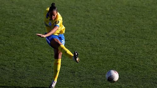Rianna Jarrett takes a shot against West Ham