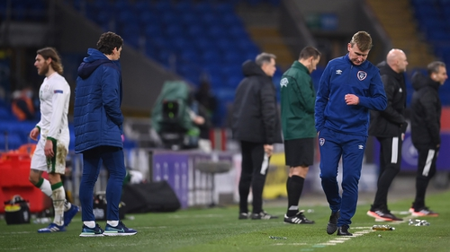 The Ireland manager watched his side go down 1-0 in Cardiff