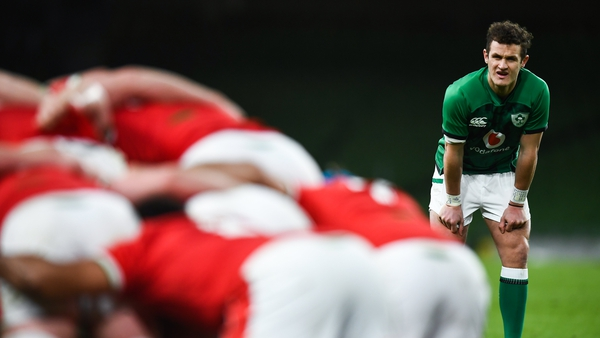 Billy Burns came on as a replacement against Wales for his Ireland debut