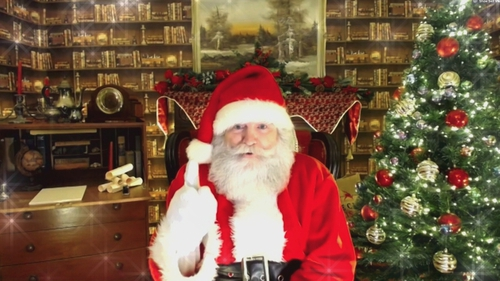 Santa explained by Zoom that the elves are working in pods this year due to coronavirus