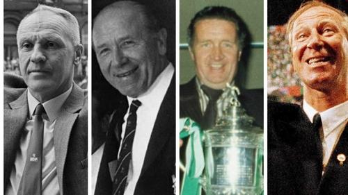 (L to R): Bill Shankly, Matt Busby, Jock Stein and Jack Charlton