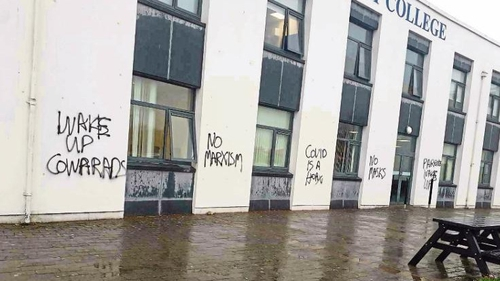 The messaging was discovered when Castletroy College opened this morning after the weekend
