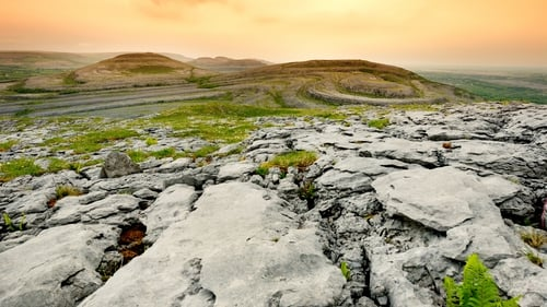 The spectacular landscape of the Burren in Co Clare