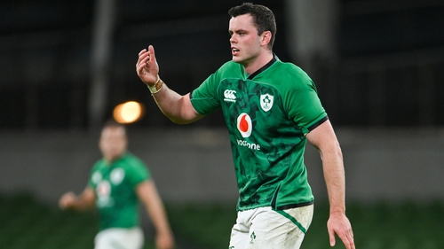 James Ryan took over the captaincy following Sexton's early injury departure in Friday's win over Wales