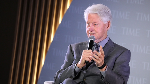 Bill Clinton said that while there are challenges, he remains hopeful