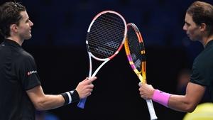Dominic Thiem beat Rafael Nadal to reach the last four in London
