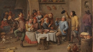 """Fighting against the prohibition of Christmas was a political act"". Image: David Teniers II's Twelfth-night (The King Drinks)"