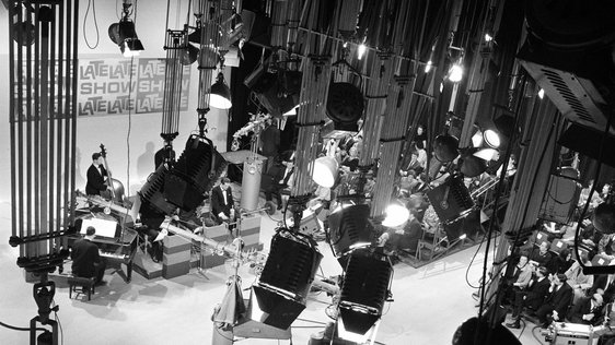 'The Late Late Show' studio and set (1965). Photo by Roy Bedell