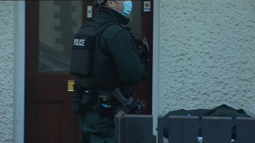 The man was arrested at his home in Belfast this morning (Pic courtesy BBC)