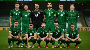 The Ireland team that started against Bulgaria in the Nations League