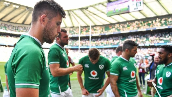 Ross Byrne was replaced in the 52nd minute in Twickenham