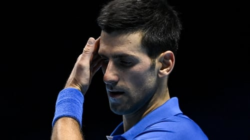 Novak Djokovic was beaten in straight sets by Daniil Medvedev
