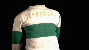 A replica of the jersey worn by the Tipperary team who played Dublin in Croke Park in 1920