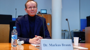 Wirecard's former chief executive Markus Braun at today's German inquiry