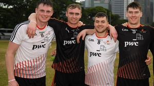 (From L) Austin Gleeson, Pauric Mahony, Jamie Barron and Tadhg De Búrca on the 2017 All-Star tour