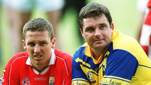 Declan Browne, left, and goalkeeper Philly Ryan react after Tipperary's Munster final replay defeat to Cork in 2002