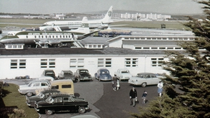 Shannon airport in 1963: the Irish government dealt with requests for searches of Cuban and Eastern Bloc flights that landed at Shannon airport en route to Cuba during the missile crisis. Photo: Ponzini Family/ Getty Images