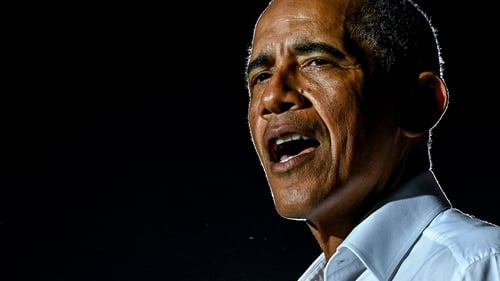 Former US President Barack Obama campaigns for Joe Biden in Miami, Florida, earlier this month