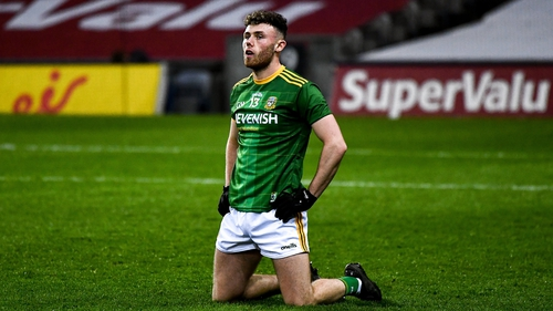 A dejected Jordan Morris after Meath's heavy loss to the Dubs