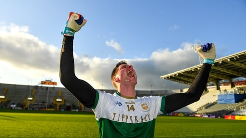 Conor Sweeney celebrates a memorable day for Tipperary