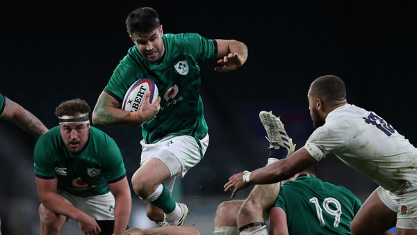 Conor Murray runs with the ball during the Autumn Nations Cup match against England