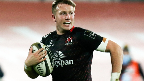 Stewart Moore scored the second of Ulster's four tries