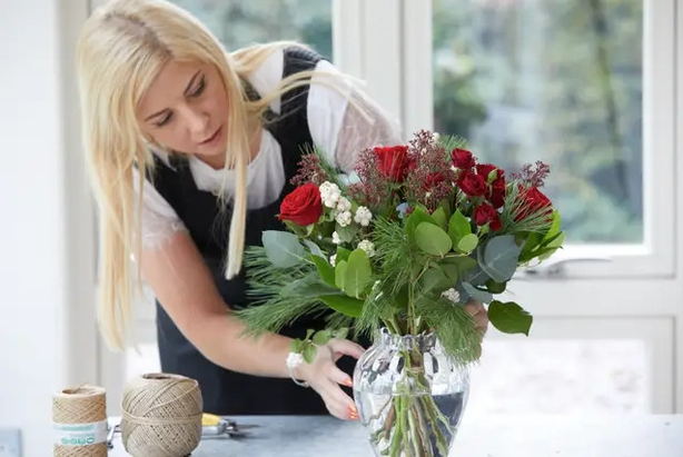 Check the bouquet is even (Interflora/PA)