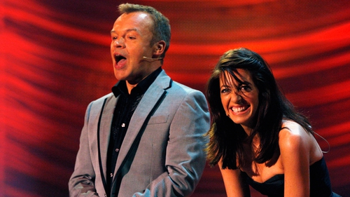 Graham Norton and Claudia Winkleman (pictured at Eurovision Dance Contest rehearsal in Glasgow in September 2008) - Changing of the guard of BBC Radio 2 on Saturdays