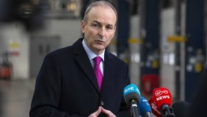 Micheál Martin was speaking to reporters at Dublin Port