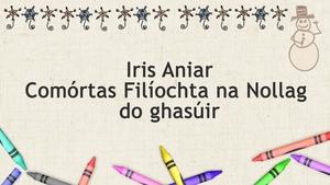 Tá comórtas filíochta do ghasúir don Nollaig fógartha ag Iris Aniar