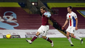 Chris Wood fires past Crystal Palace goalkeeper Vicente Guaita for the only goal of the game at Turf Moor