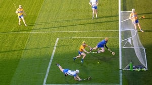 Dessie Hutchinson score the first of three Waterford goals against Clare
