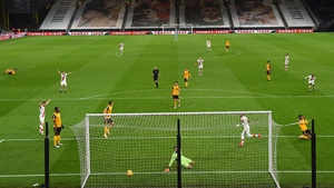 Theo Walcott opened the scoring for Southampton just short of the hour mark at Molineux Stadium