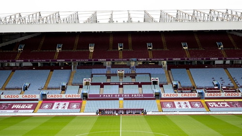 Aston Villa fans were reported on 13 occasions