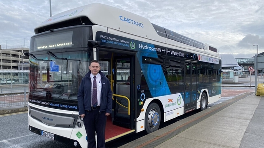 Hydrogen buses introduced by Bus Éireann