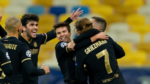 Antoine Griezmann and Barcelona celebrate a comfortable win