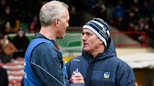 Galway manager Shane O'Neill (L) and Limerick boss John Kiely face off this Sunday