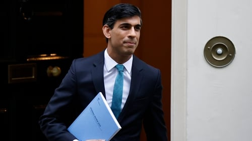 The UK budget deficit is set to raise to its highest since World War Two, Rishi Sunak has said