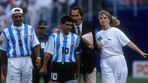 International career came to an end after being sent home from the 1994 World Cup for failing a drug test for ephedrine doping