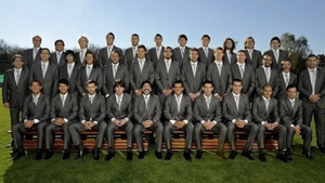 Maradona and his Argentina squad ahead of the 2010 World Cup