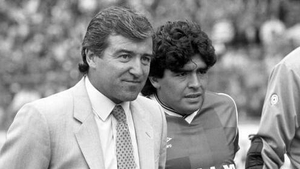 At Wembley in 1987 with Terry Venables as a Rest of World XI took on an English League XI