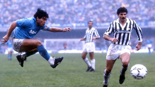 Maradona flourished at Napoli