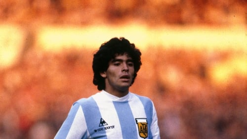 Maradona, facing England, three days before the Lansdowne Road game