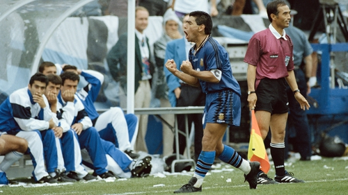 Maradona tested positive for ephedrine at the 1994 World Cup and found himself suspended - but not before lighting up two games and celebrating like a man possessed after scoring against Greece