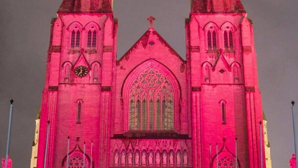 Many cathedrals, churches and other buildings are lit annually at the end of November to mark Red Wednesday