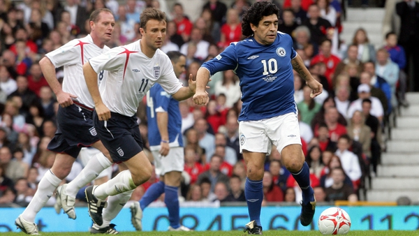 Diego Maradona and Paul Gascoigne both featured in Soccer Aid at Old Trafford in 2006