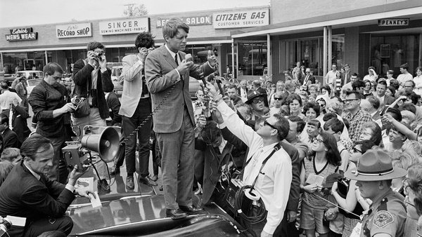 "Bobby Kennedy on the campaign trail: ""After JFK's death, the political career of his brother came to be of interest."" Photo: Wally McNamee /Corbis via Getty Images"