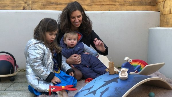 Vicky Noble with her daughter Daniela (4) and son Ruadhan (10 months)