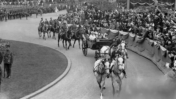 King George V and Queen Mary arrive for the opening of the Northern Ireland parliament in June 1921. Photo: Daily Mirror/ Mirrorpix/Mirrorpix via Getty Images