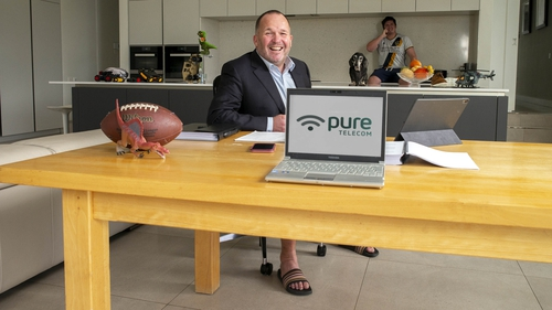 Paul Connell, the CEO of Pure Telecom, adapting to remote working